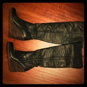 Lucky brand 7.5 leather over the knee boot